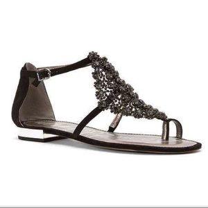 Sam Edelman Dillan Jewel Crystal Sandals Black